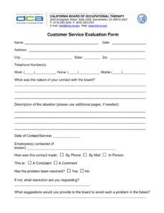 free 14 customer service evaluation forms in pdf customer service evaluation form template sample