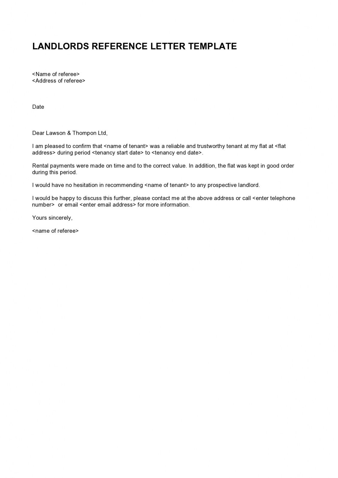 free 28 amazing rental reference letters for tenants & landlords rental reference form template sample
