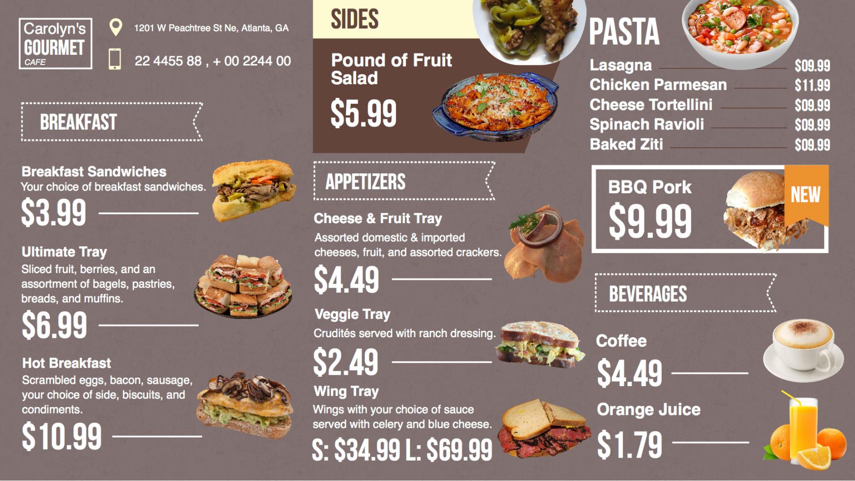 free displaying digital menu boards with enplug's dsmenu app digital menu boards template pdf