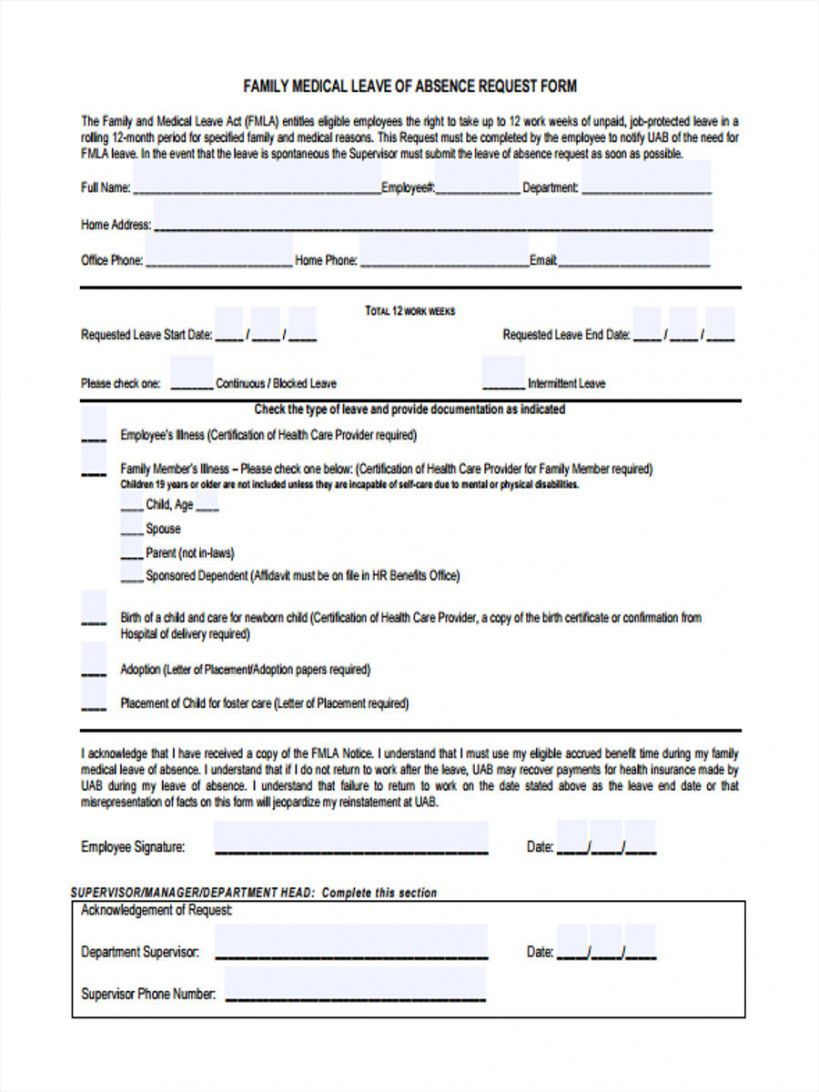 free free 31 leave request forms in pdf  ms word  excel medical leave of absence form template