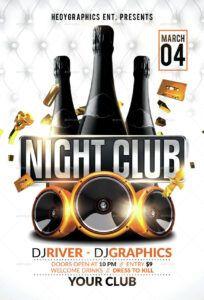 free night club  flyer template nightclub poster template word