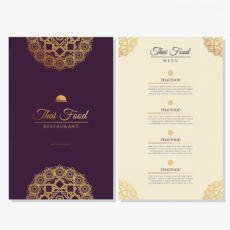 free plantilla de menú de restaurante de comida tailandesa thai restaurant menu template doc