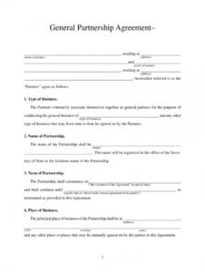free printable partnership agreement pdf  fill online printable partnership application form template sample