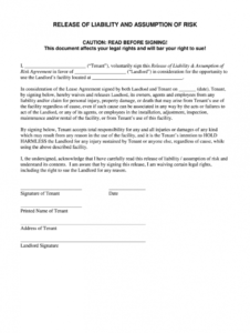 free release of liability form  fill out and sign printable pdf template   signnow injury liability release form template example