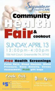 health fair flyer template free ~ addictionary health fair poster template