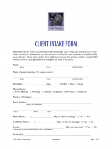 printable counseling intake form  fill out and sign printable pdf template  signnow counseling client intake form template pdf
