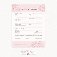 printable floral client booking form template for photographers party booking form template excel
