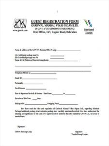printable free 22 hotel registration forms in pdf  ms word hotel guest registration form template doc