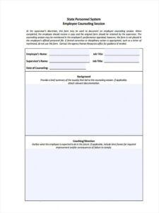 printable free 8 employee counseling forms in pdf employee counseling form template sample