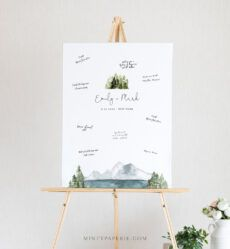 printable guestbook alternative poster lake and pine wedding guest wedding guest book poster template doc