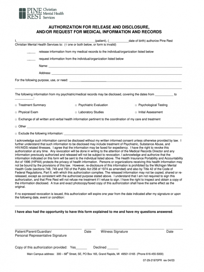 printable release of information form pdf  fill out and sign printable pdf template   signnow mental health release of information form template pdf