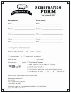 printable sample workshop registration form template  vincegray2014 baseball registration form template pdf