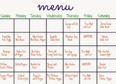 sample 31 days of dinners a menu plan for the whole month  the monthly food menu template example
