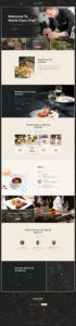 sample alanzo  personal chef & wedding catering event wordpress theme personal chef menu template excel