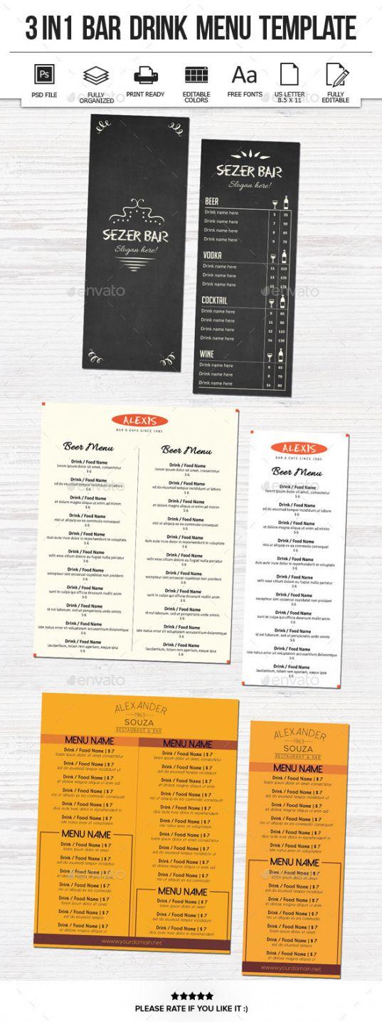 sample bar menu template graphics designs & templates bar and grill menu template doc