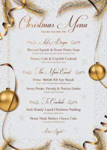 sample christmas menu template  free posters design for photoshop christmas menu template doc