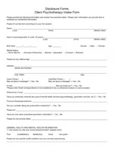sample client consent form  fill online printable fillable counseling client intake form template sample