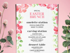 sample easter special brunch menubarcelonadesignshop on dribbble easter brunch menu template excel