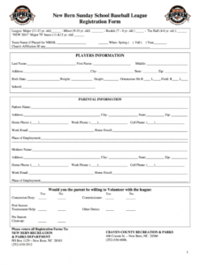 sample registration forms baseball  fill out and sign printable pdf template   signnow baseball registration form template pdf