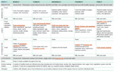 sample sample twoweek menu for long day care  healthy eating child care menu template excel
