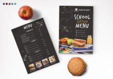sample school canteen menu design template in psd word publisher publisher menu template excel