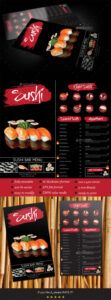 sample sushi menu graphics designs & templates from graphicriver sushi menu template doc