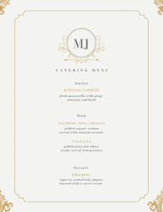 60 best menu templates for restaurants & coffee shops elegant menu template word