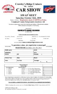 8 car show registration form templates  word excel samples trade show registration form template