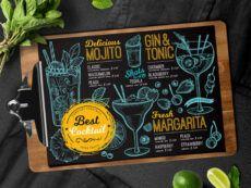 cocktail bar menubarcelonadesignshop on dribbble snack bar menu template excel