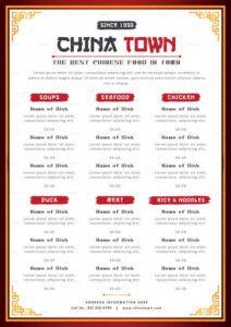 editable 12 best chinese food restaurant menu templates restaurant food menu template word