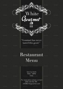 editable elegant menu design template in psd word publisher elegant menu template sample