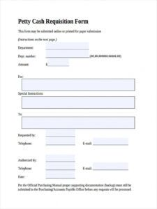 editable free 5 petty cash requisition forms in pdf fund request form template example