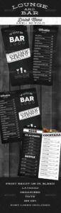 editable lounge bar drink menu modernnathanknight  graphicriver snack bar menu template example