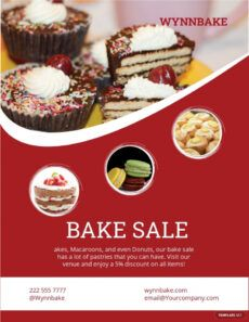 editable printable bake sale flyer template free pdf  word doc bake sale menu template