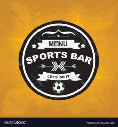 editable sports bar menu template design royalty free vector image sports bar menu template excel