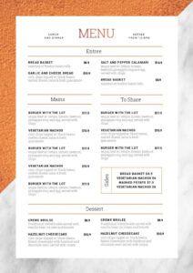 free 1 menu template 10 ways  hack your visual design series wine pairing menu template sample