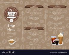 free coffee shop horizontal menu template royalty free vector coffee shop menu template pdf
