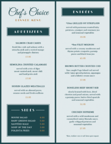free elegant dinner menu template elegant menu template word