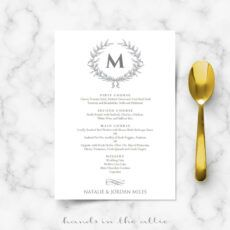 free elegant wedding food menu template elegant menu template pdf