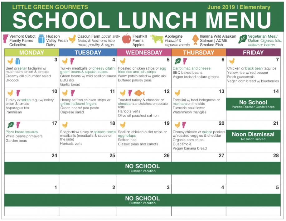 free elementary  pine street school nyc  international school elementary school lunch menu template doc