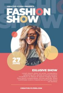 free fashion show flyer template to print  creative flyers fashion show poster template doc