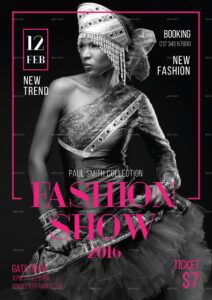 free fashion show flyertokosatsu  graphicriver fashion show poster template excel