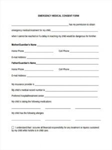 free free 8 sample emergency consent forms in pdf  ms word babysitter medical consent form template doc