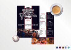 free sports bar menu design template in psd word publisher sports bar menu template word