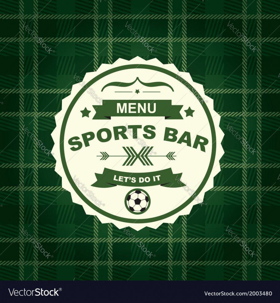 free sports bar menu template design royalty free vector image sports bar menu template word