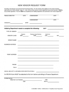 free vendor request form  fill out and sign printable pdf template  signnow new vendor request form template
