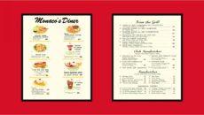 free vintage diner menu i say jim's retro diner is a images 50s diner menu template sample
