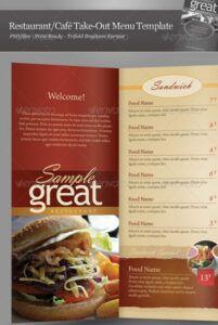 printable 25 high quality restaurant menu design templates  bashooka restaurant food menu template sample