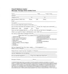 printable 59 best massage intake forms for any client  printable facial client intake form template doc