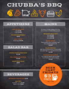 printable bbq menu template grill menu template example